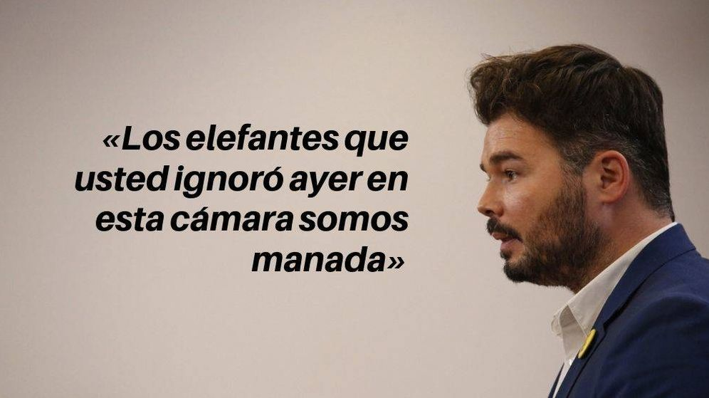 Foto: Frase de Gabriel Rufián. (EFE/EC)