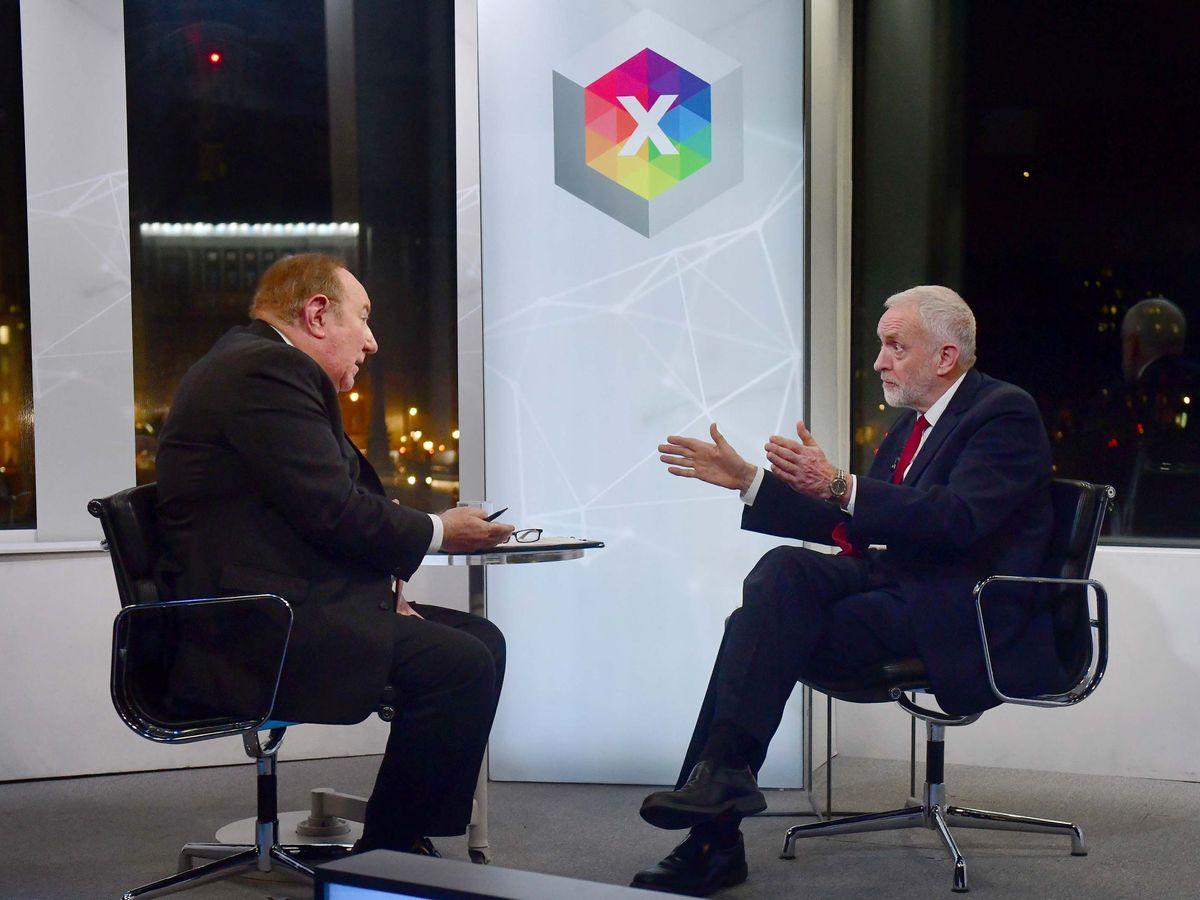 Foto: Andrew Neil entrevistando al exlíder del partido laborista Jeremy Corbyn. (Reuters)