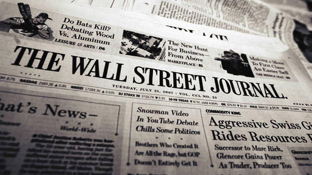 Foto: Portada de uno de los números físicos de 'The Wall Street Journal'.