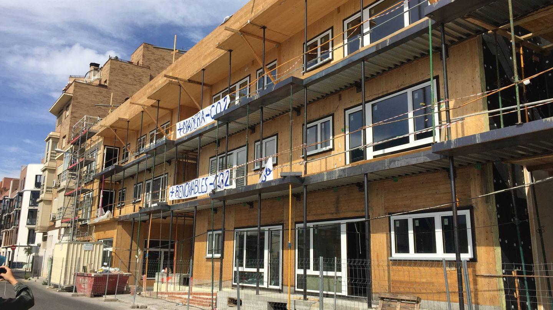 Aspecto del edificio Entrepatios, a primeros de octubre. (A. V.)