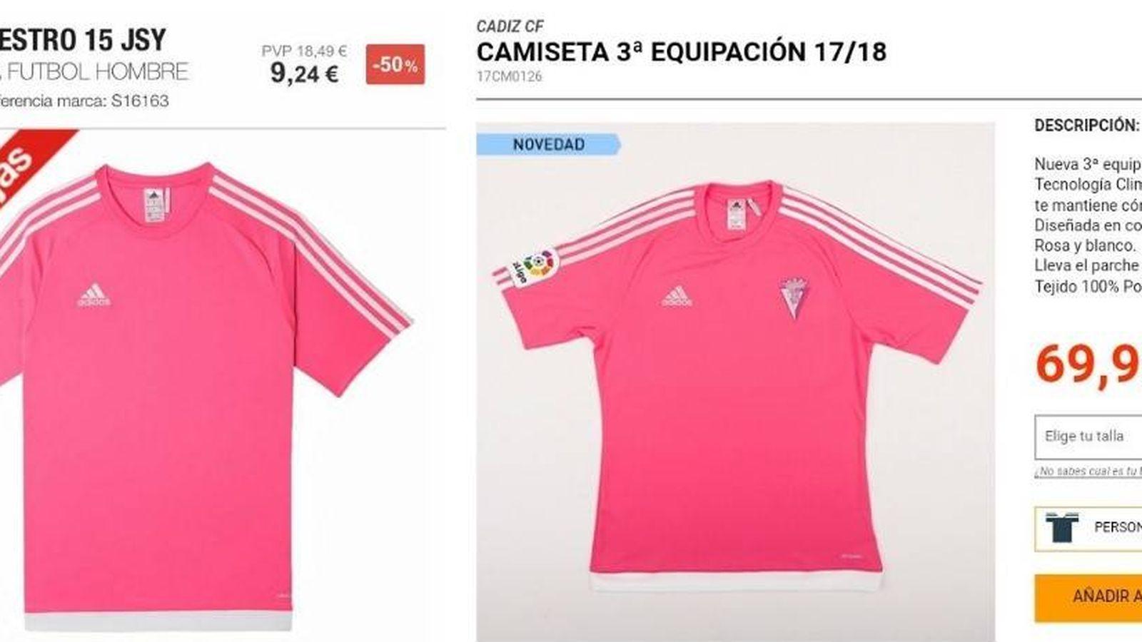 Foto: Una camiseta básica con un escudo y el logo de la Liga puede costar 60 euros más