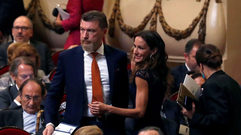 Telma Ortiz y su pareja, en los Premios Princesa de Asturias de 2019. (EFE)