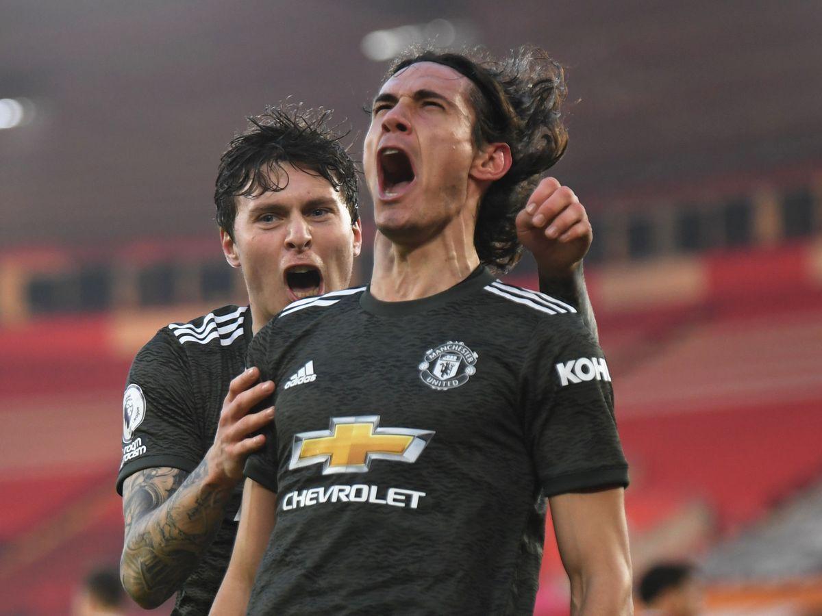 Foto: Cavani celebra su primer gol en aquel partido contra el Southampton. (Reuters)