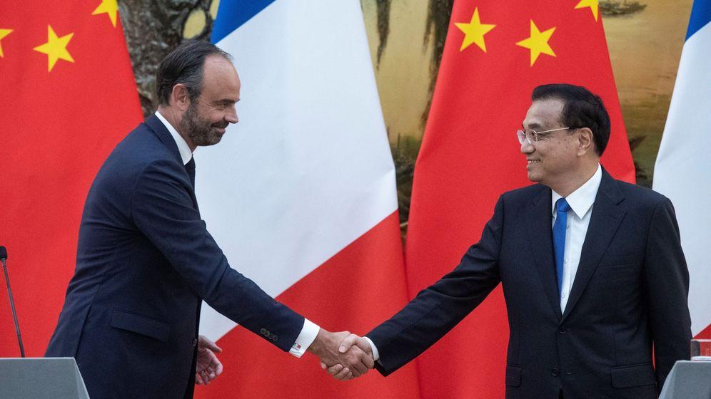 Foto: El primer ministro chino Li Keqiang con su homólogo francés, Edouard Philippe (Reuters)