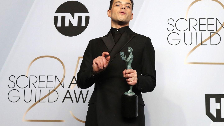 Rami Malek, en los premios SAG. (EFE)