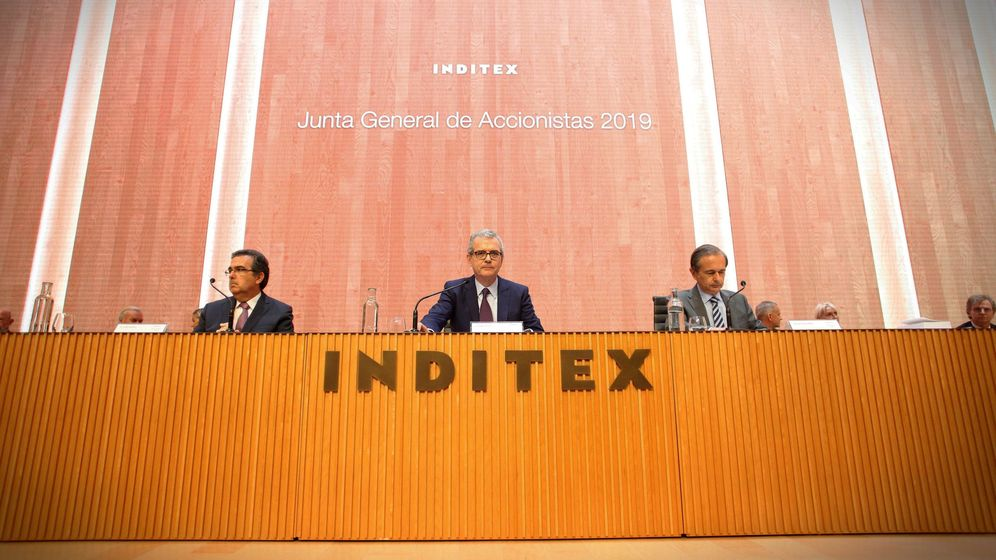 Foto: Junta general de accionistas de Inditex del año pasado.