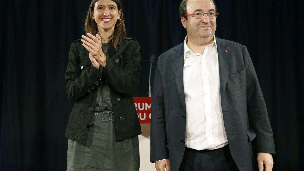 Foto:  Los candidatos a la secretaría general del PSC Miquel Iceta y Núria Parlon. (EFE)