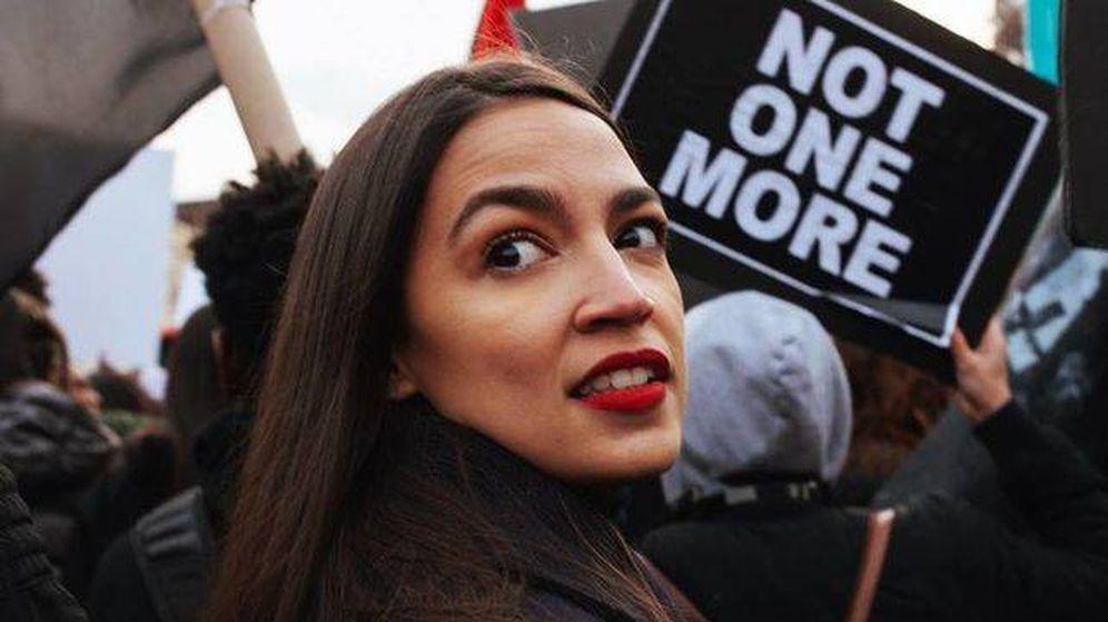 Foto: Alexandria Ocasio-Cortez, ganadora de las primarias demócratas en Nueva York.