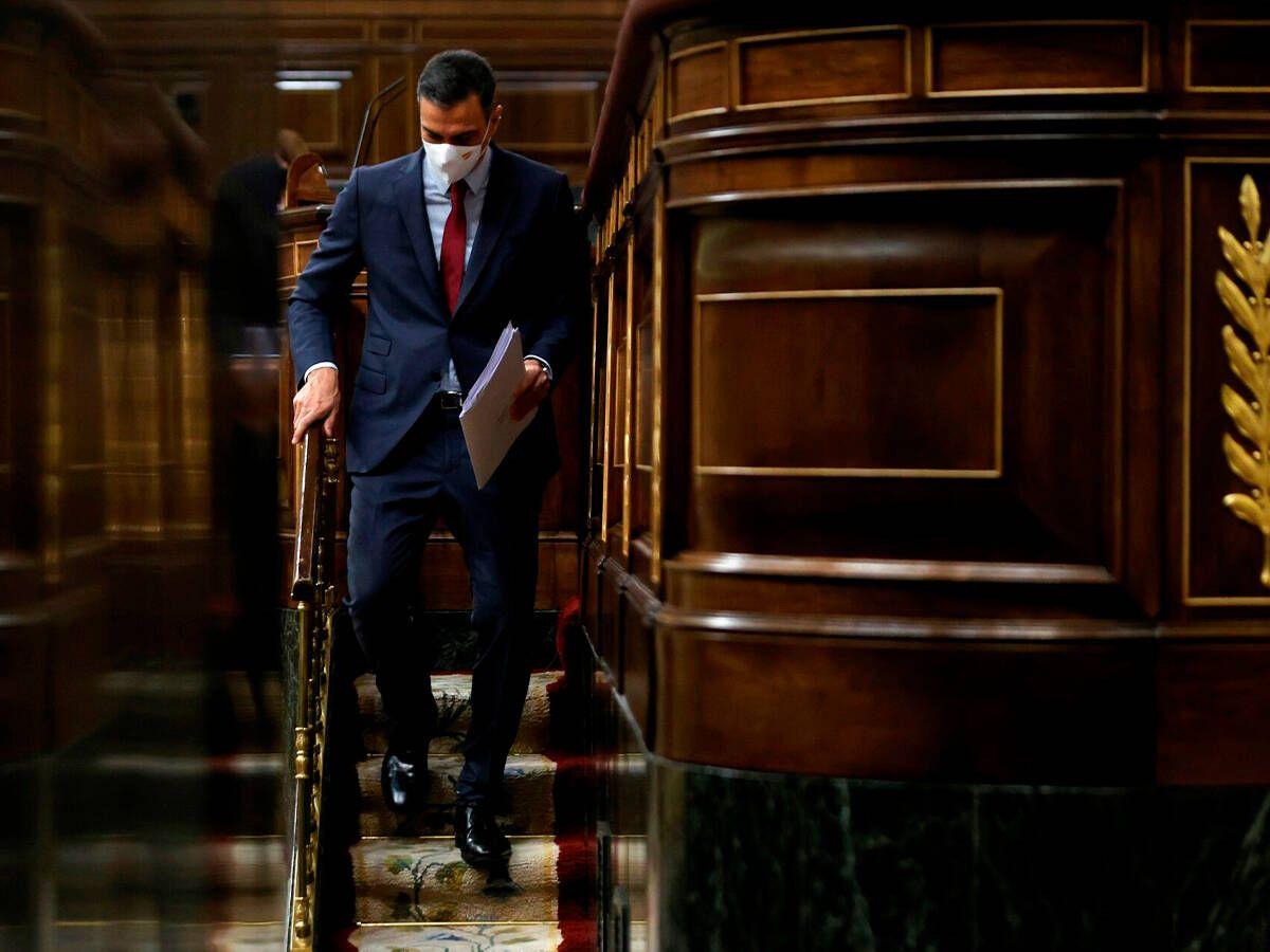 Foto: Sánchez, este miércoles en el Congreso. (EFE)