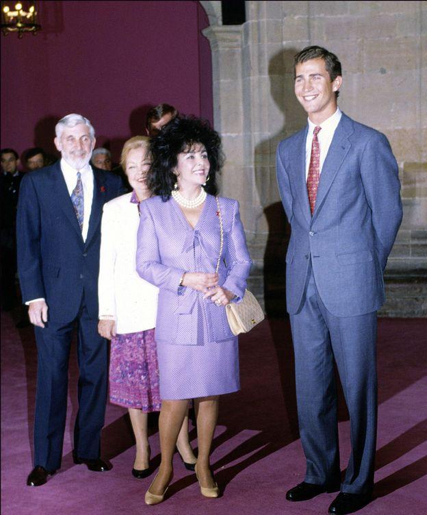 Foto: Elizabeth Taylor junto al príncipe Felipe