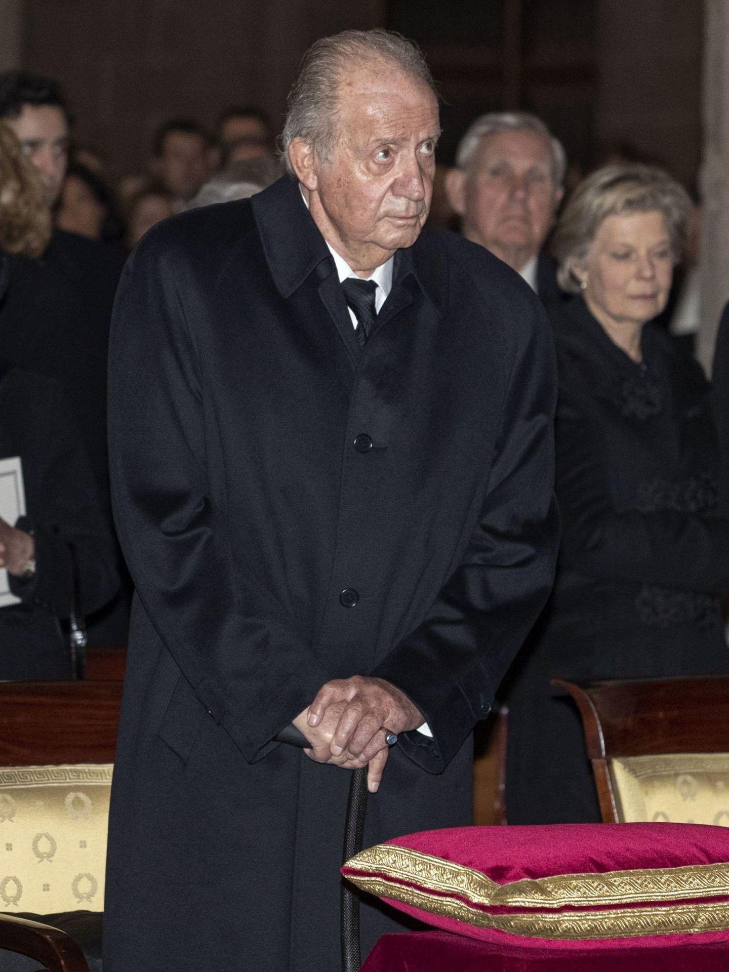 El rey Juan Carlos, en el entierro de la infanta Pilar. (EFE)