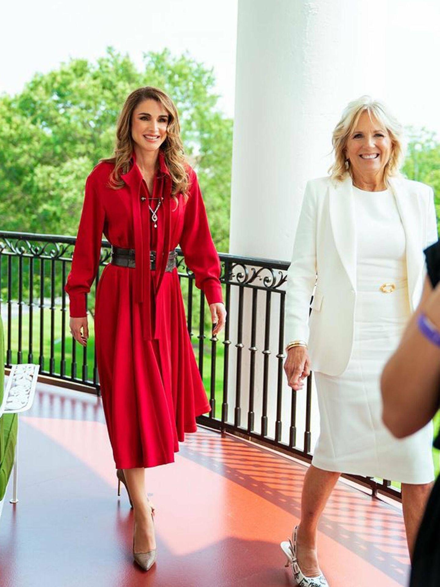 Jill Biden y Rania de Jordania. (Instagram)