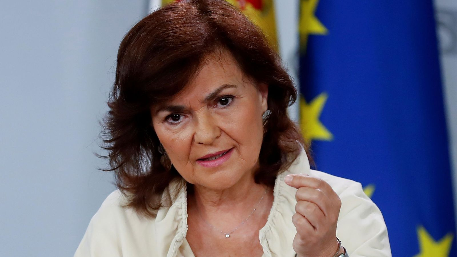 Foto: La vicepresidenta Carmen Calvo. (EFE)