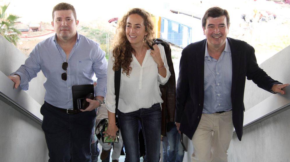 Foto: Emilio Argüeso (i), con Fernando Giner y Carolina Punset, cuando esta formaba parte de la dirección de Ciudadanos. (Cs)