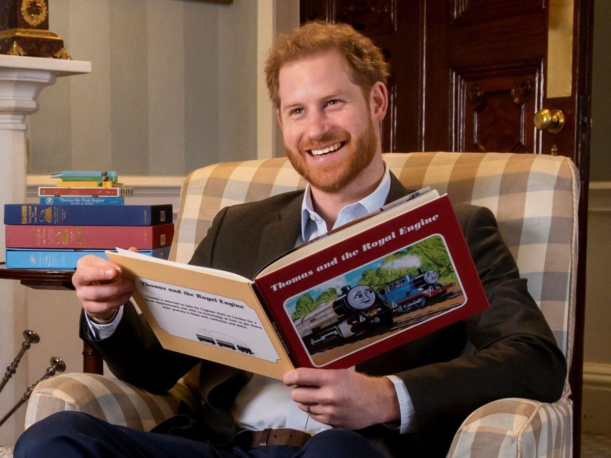 Foto: El príncipe Harry, en 'Thomas & Friends: The Royal Engine'. (Reuters)