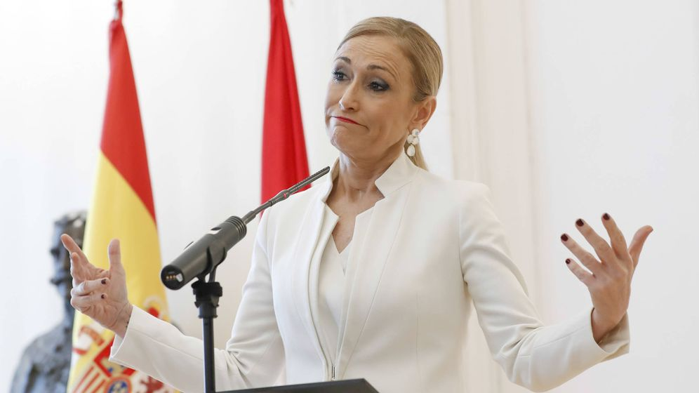 Foto: Cristina Cifuentes el día de su dimisión. (Gtres)