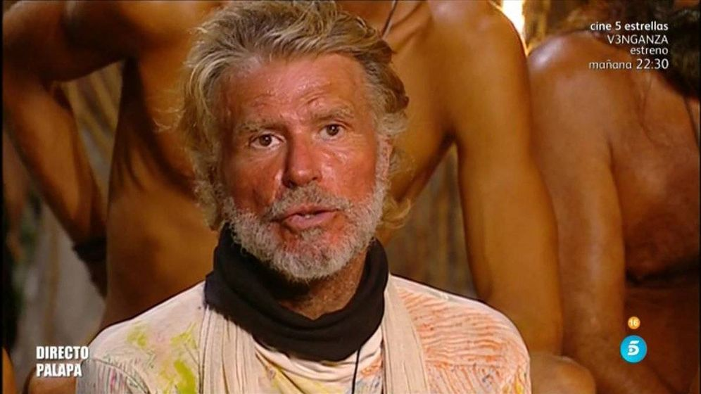 Foto: Edmundo, desterrado al Palafito en la última gala de 'Supervivientes'.
