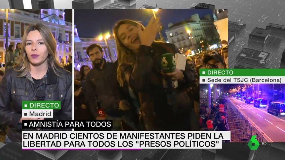 Agreden y escupen a una reportera de La Sexta en la manifestación de Madrid