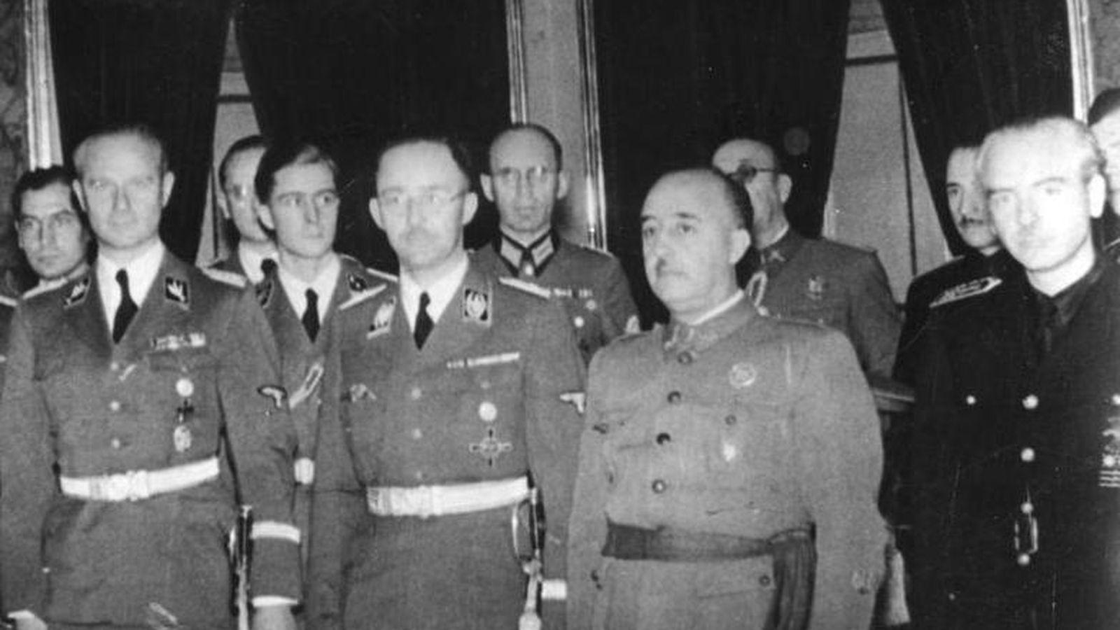 Foto: Franco junto a Heinrich Himmler en octubre de 1940 (CC)