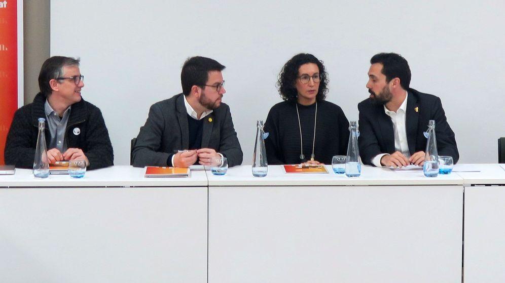 Foto: La secretaria general de ERC, Marta Rovira, en la reunión de la ejecutiva del partido en Ginebra. (EFE)