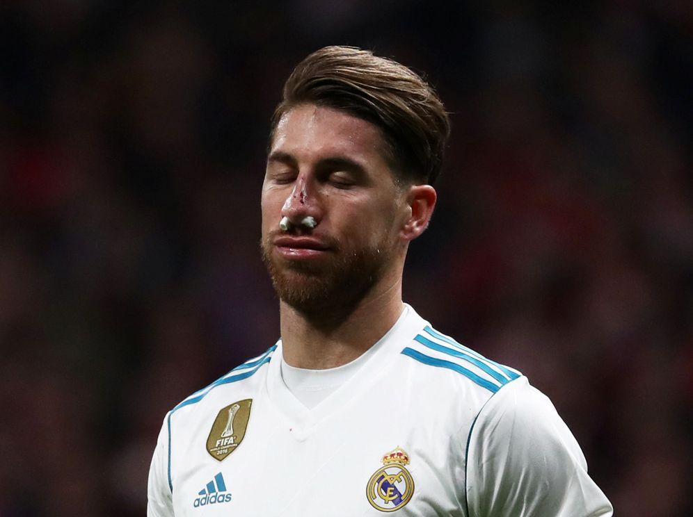 Foto: Sergio Ramos no pudo acabar el partido. (Reuters)