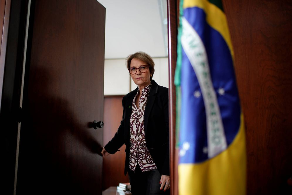 Foto: La ministra de Agricultura Tereza Cristina Corrêa durante una entrevista en Brasilia. (Reuters)