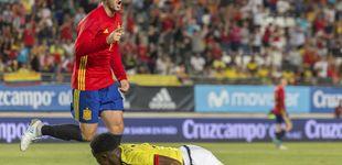 Post de El '7' de Morata al traje de Hugo Boss o cómo la frustración se apoderó del delantero