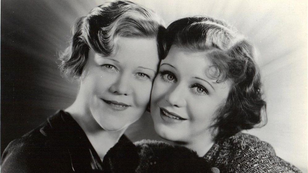 Foto: Lela y su hija al principio de su carrera