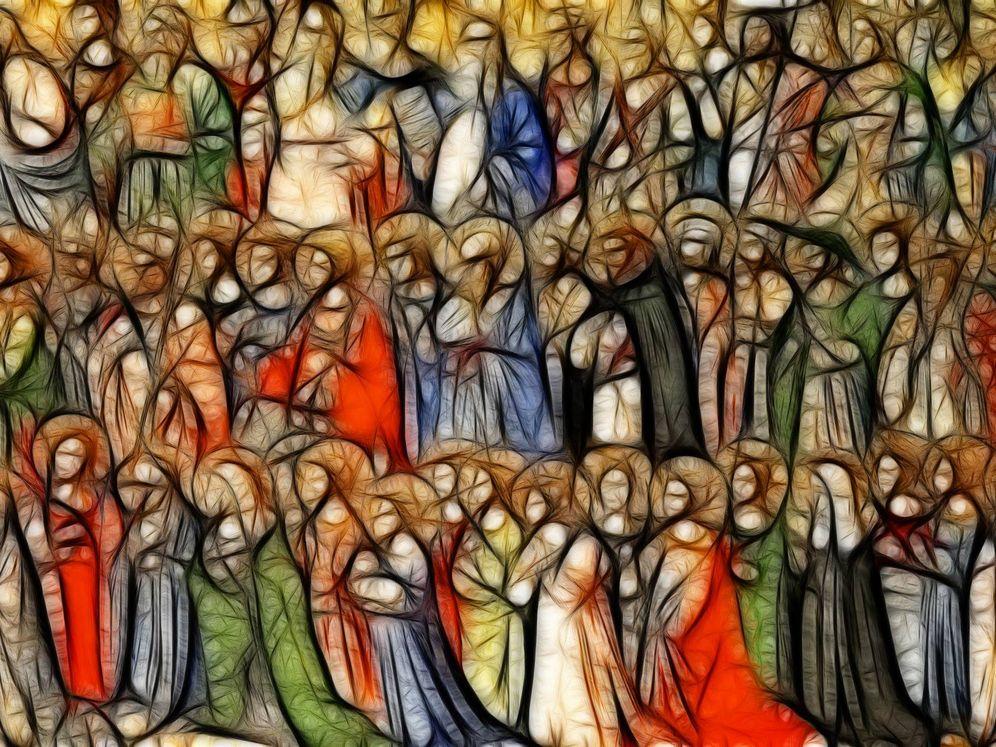 Foto: Representación de Todos los Santos anónimos, cuyo día festeja hoy la Iglesia Católica.