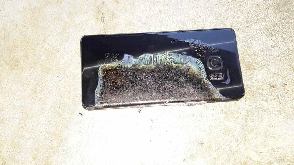 Evacúan un vuelo en EEUU al incendiarse un Samsung Galaxy Note 7
