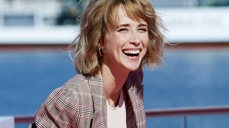 Ingrid García-Jonsson, en el Festival de Cine de Málaga con su habitual cabello alborotado. (Getty)