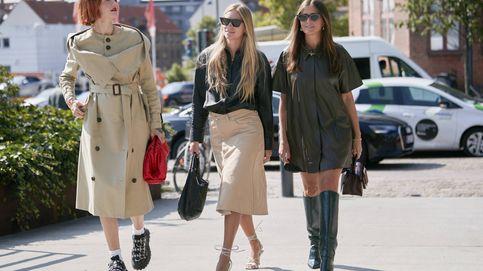 Una falda midi (de rebajas) y tres looks: casual, working y de fiesta