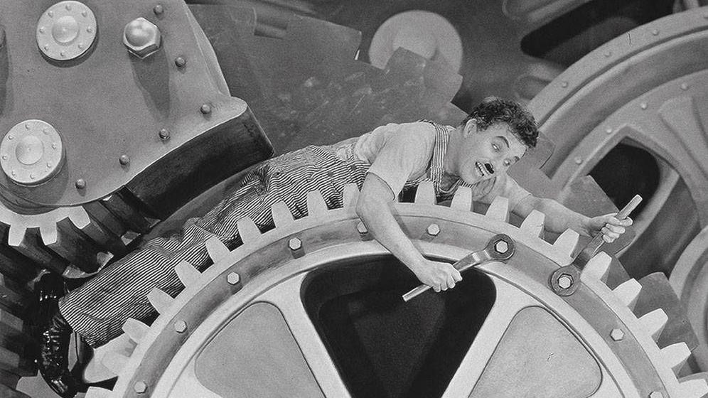 Foto: Charlie Chaplin en 'Tiempos modernos'.