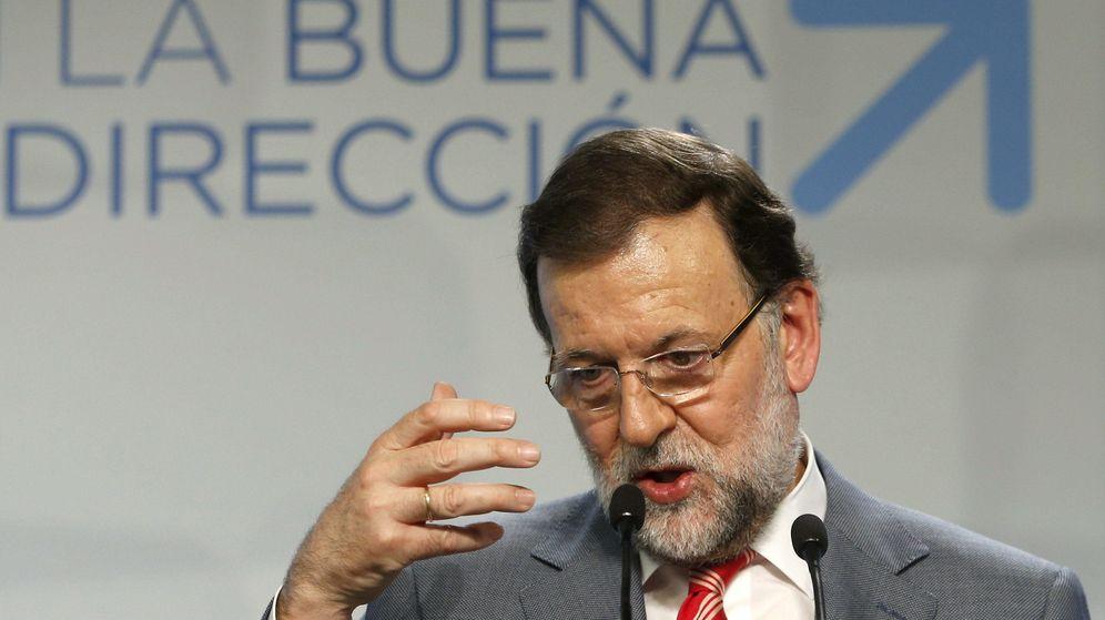 Foto: El presidente del Gobierno, Mariano Rajoy, durante la rueda de prensa ofrecida tras la reunión del Comité Ejecutivo Nacional del PP (EFE)