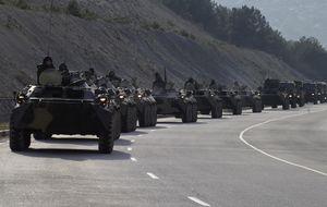 Tropas rusas abren fuego durante la toma de un puesto militar ucraniano