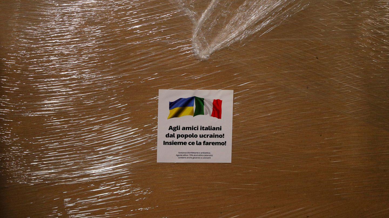Ayuda humanitaria de Ucrania a Italia. (Reuters)