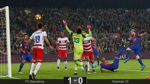 Rafinha evita que el colista pesque un punto ante un Barcelona aburrido