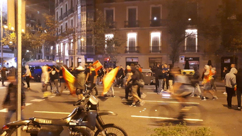 Ultraderechistas, en Barcelona. (Rafael Méndez)