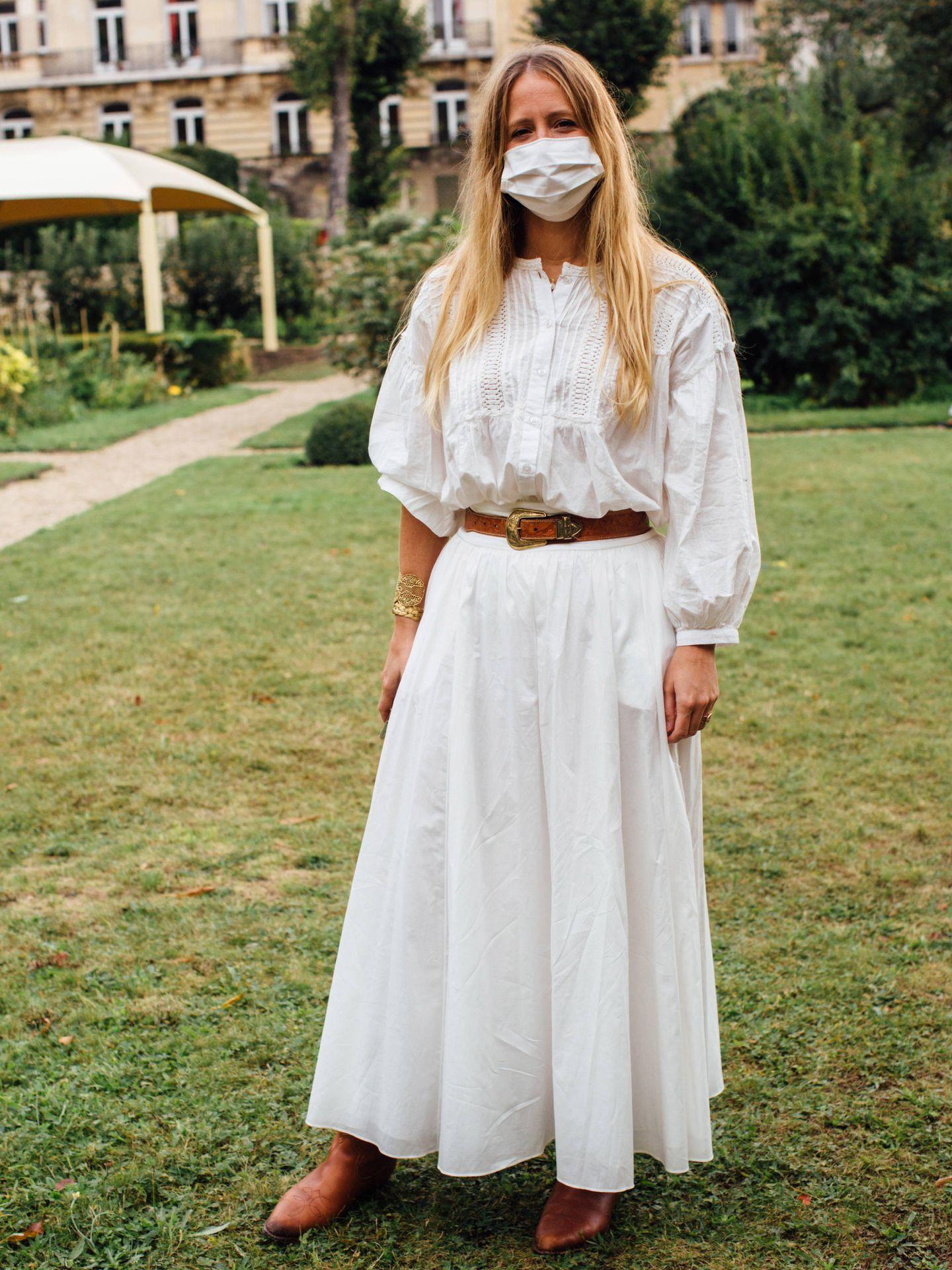 Un vestido blanco bohemio. (Imaxtree)