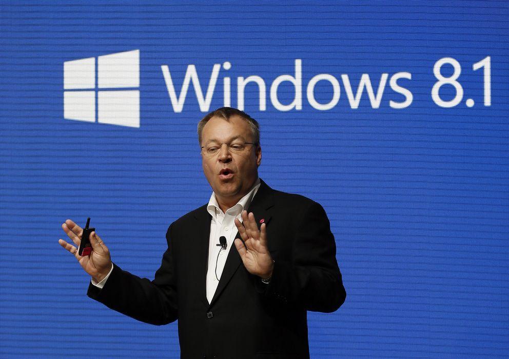 Foto: Stephen Elop, en una instantánea tomada ayer en el MWC (Reuters)