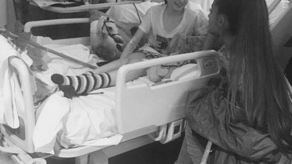 Ariana Grande visita las víctimas de Mánchester horas antes de su concierto
