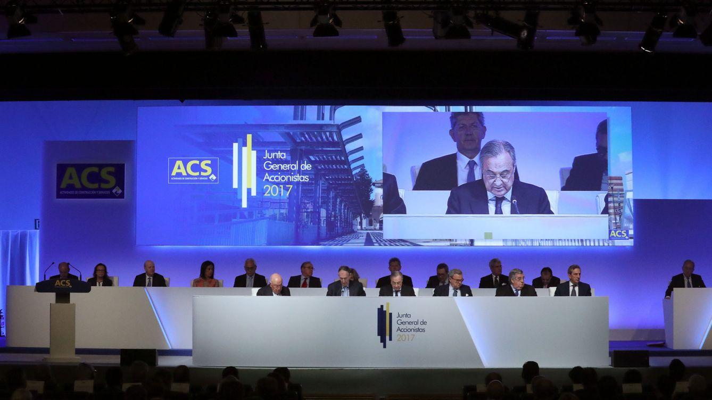 Los accionistas institucionales de ACS se oponen al 'megasueldo' de Florentino Pérez
