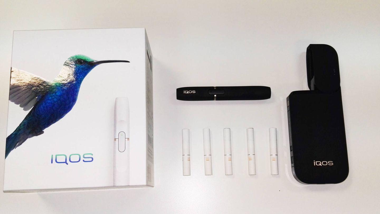 'Pack' de IQOS: caja, dispositivo IQOS, unidades de tabaco y cargador. (Foto: C. Otto)