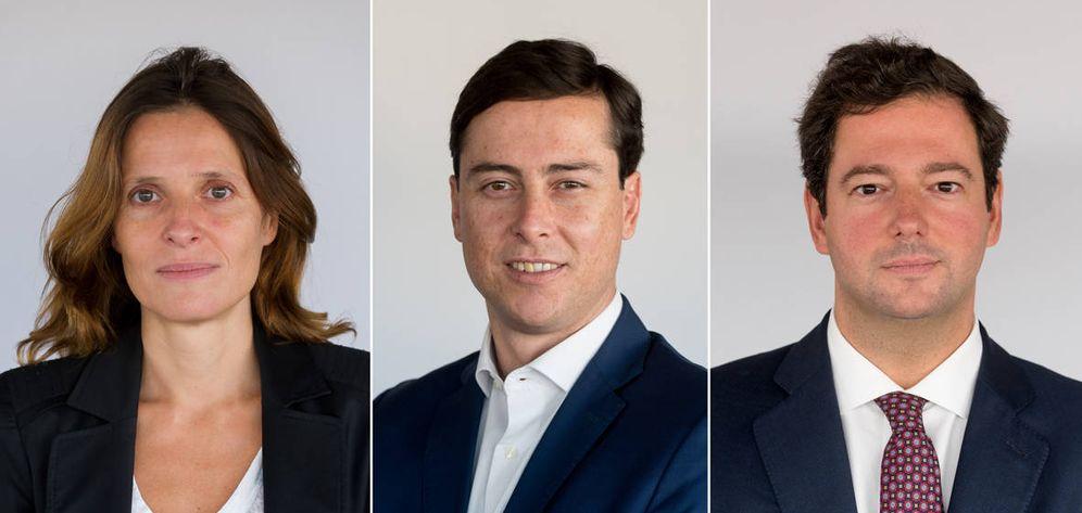 Foto: Los nuevos socios de Linklaters Carmen Burgos (mercantil), Adolfo Guerrero (inmobiliario) y Alejandro Meca (fiscal).