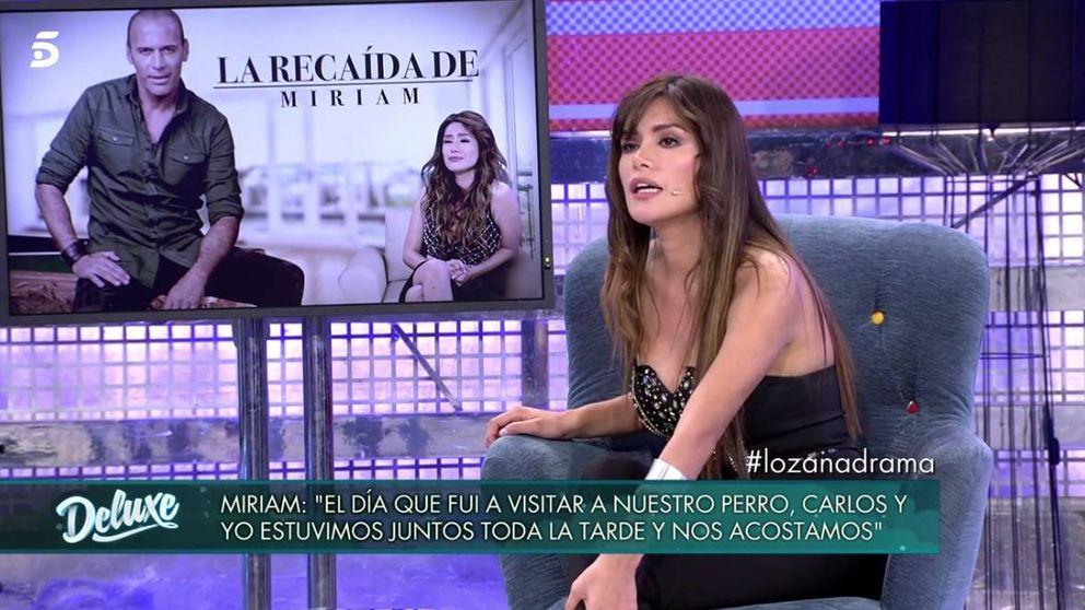 ¿Han vuelto Carlos Lozano y Miriam? La peruana se confiesa en el 'Deluxe'