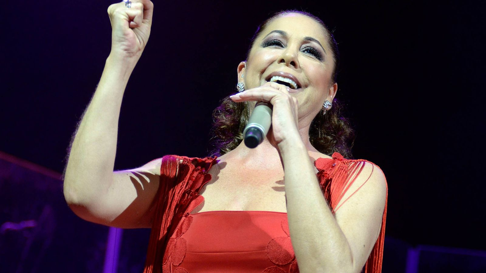 Foto: Isabel Pantoja, durante un concierto. (Getty)