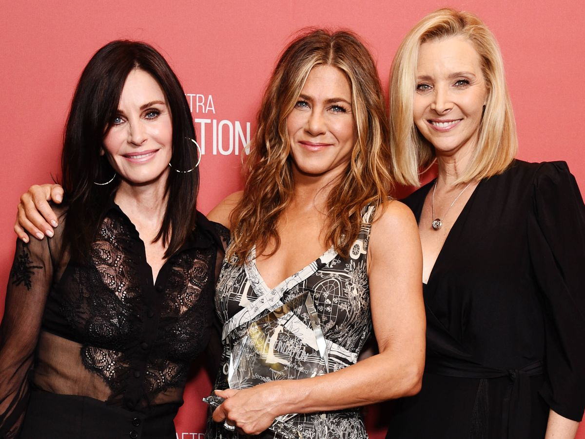 Foto: Courteney Cox, Jennifer Aniston y Lisa Kudrow. (Getty