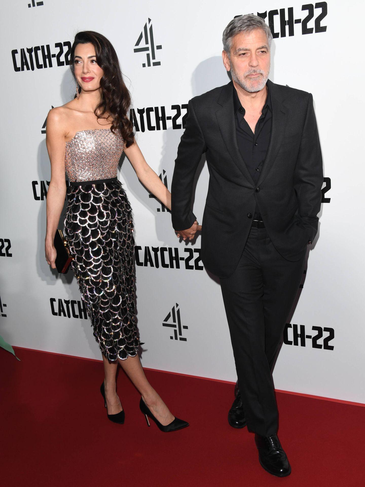 Amal Clooney y George Clooney. (Getty)