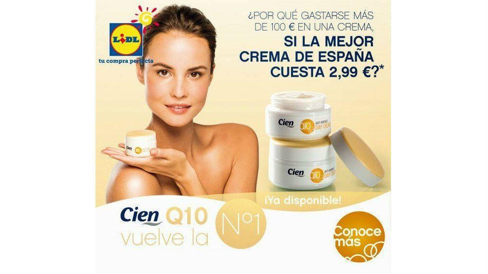 Foto: Lidl publicó propaganda donde se hacía eco de su posición en el ranking de cremas hidratantes