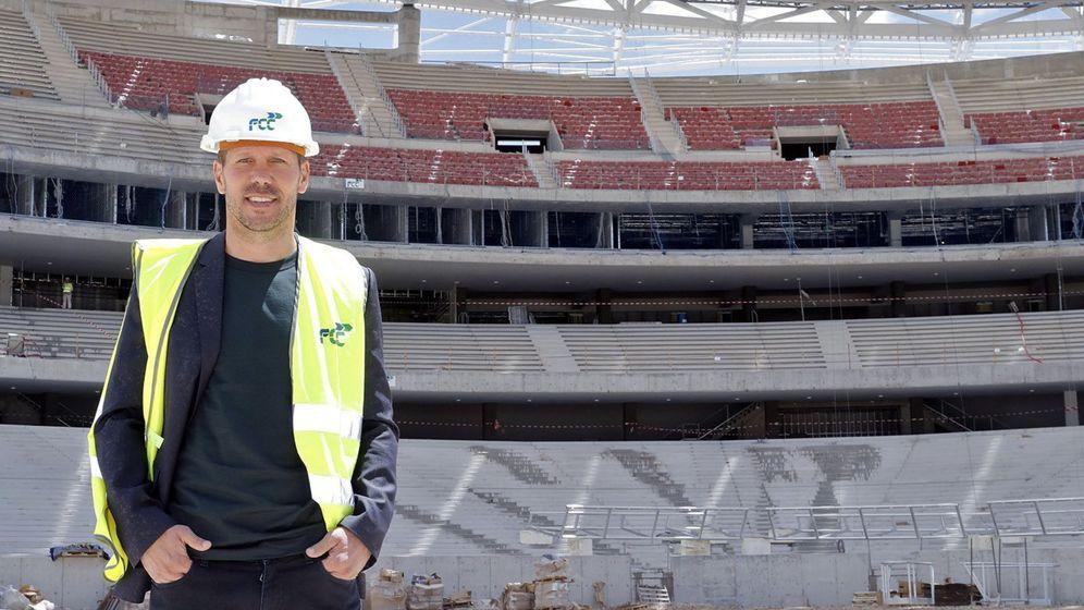 Foto: Simeone, en el Wanda Metropolitano (EFE)